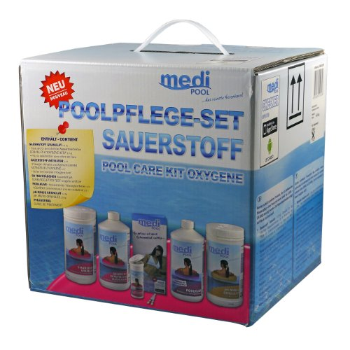 wasserpflege f r pool set chlor ph 3 5 kg medipool test. Black Bedroom Furniture Sets. Home Design Ideas