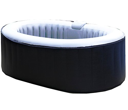 aqua spa whirlpool oval 2 personen grau hellgrau test. Black Bedroom Furniture Sets. Home Design Ideas