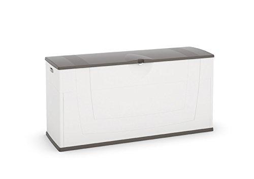 kis gartenbox karisma wei grau aufbewahrungsbox test. Black Bedroom Furniture Sets. Home Design Ideas
