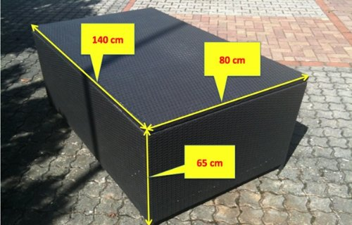 xxl rattan kissenbox 140 x 80 x 65cm living everyday test. Black Bedroom Furniture Sets. Home Design Ideas