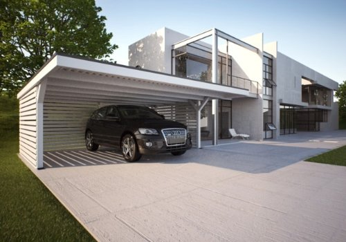 carport 6 16 x 9 00 m mit ger teraum von easycarport test. Black Bedroom Furniture Sets. Home Design Ideas