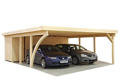 palmako carport doppelcarport richard 2 natur test. Black Bedroom Furniture Sets. Home Design Ideas