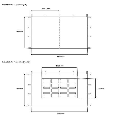 jarolift falt gartenpavillon 3x3 m basic test. Black Bedroom Furniture Sets. Home Design Ideas