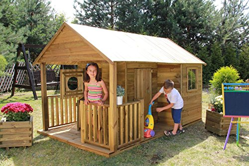 baumotte spielhaus holz kinderspielhaus leonardo test. Black Bedroom Furniture Sets. Home Design Ideas