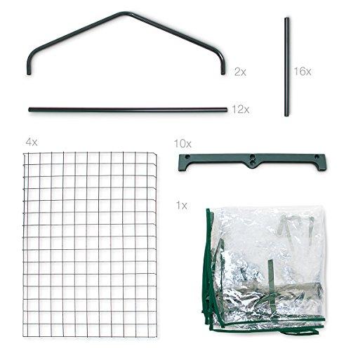 relaxdays 4 etagen klein foliengew chshaus test. Black Bedroom Furniture Sets. Home Design Ideas
