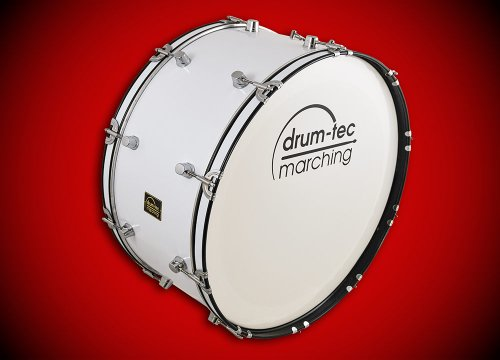 Drum tec marching classic line marching bass drum test for Classic house bass lines
