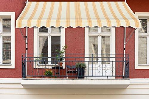 premium balkon klemm markise 3 x 1 2 m test. Black Bedroom Furniture Sets. Home Design Ideas
