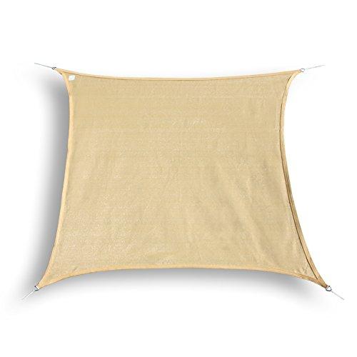 hanse marken sonnensegel sonnenschutz quadrat 4x4 m test. Black Bedroom Furniture Sets. Home Design Ideas