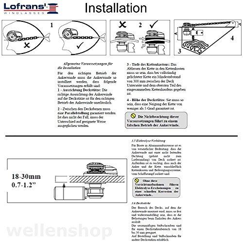 Gartenmobel Hoffner Munchen : Lofrans X1 Ankerwinde Aluminium 500W Kette,wellenshop Bild 1