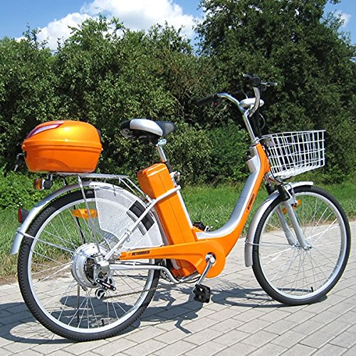 actionbikes elektro fahrrad e bike 36v 250w orange test. Black Bedroom Furniture Sets. Home Design Ideas