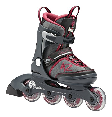 k2 marlee pro jr kinder inline skates gr l 35 40 grau test. Black Bedroom Furniture Sets. Home Design Ideas
