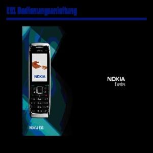 Bedienungsanleitung Nokia E51 Block Handy rose