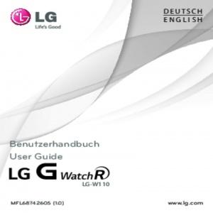 Bedienungsanleitung LG G Watch R Smartwatch LG-W110