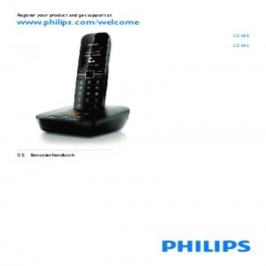 Bedienungsanleitung Philips CD4851B/DE Schnurlos DECT Telefon schwarz