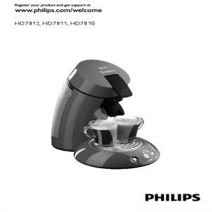 Bedienungsanleitung Philips HD7810 Senseo schwarz