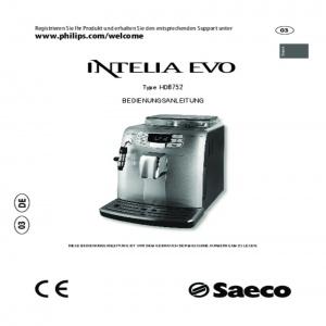 Bedienungsanleitung Philips Saeco HD8752