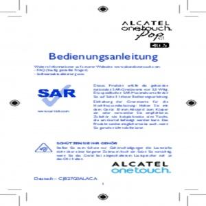 Bedienungsanleitung Alcatel One Touch Pop C1 - 4015D schwarz