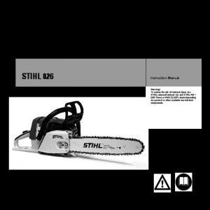 Bedienungsanleitung Stihl Motorkettensäge MS 170 D orange