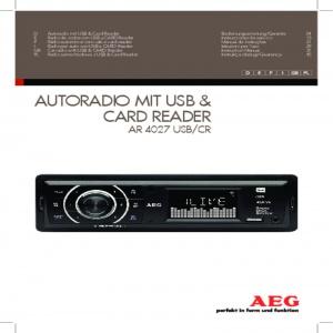Bedienungsanleitung AEG AR 4027