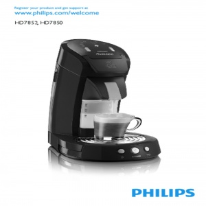 Bedienungsanleitung Philips HD7854/60 Senseo Latte Select Kaffeepadmaschine