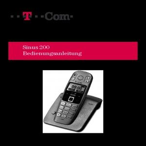 Bedienungsanleitung T-Com Sinus 200 DECT schnurloses Telefon