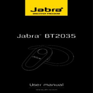 Bedienungsanleitung Jabra BT2035 Bluetooth Headset schwarz